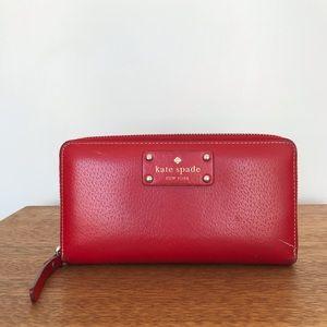 Kate Spade zip leather wallet